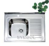 Доска раковины кухни W/T Topmount и Backsplash (SS-6080)