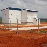 Edificio prefabricado ligero de la vertiente de la estructura de acero para Angola