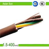 El PVC del cable de energía de la alta calidad 2cores / 3core aisló Sheathed 300 / 500V