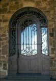 Lichtbogen-Oberseite Hand-Crafted bearbeitetes Eisen-einzelne Eingangs-Haustür