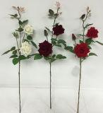 I fiori artificiali di 3 teste Rosa 94cm Gu-S80068