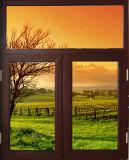 最上質アルミニウム開き窓の日除けのWindows