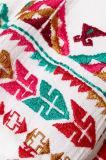 Высокое качество Minette вышило белому платью женщин Хлопк-Маркизета