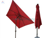 patio Umbrella Outdoor Umbrella Solar DEL Umbrella d'Umbrella de jardin de 2X3m Square DEL Umbrella