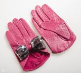 Lady Fashion Goatskin Leather Driving Sports Gloves (YKY5110)