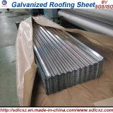 Strato d'acciaio ondulato galvanizzato laminato a freddo del tetto
