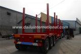 3 Semi Aanhangwagen van het Hout van het Vervoer van de as de Houten voor Gehele Verkoop