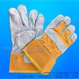 Luvas do soldador, luvas de soldadura de couro, luvas de couro do funcionamento