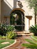 優雅な外部のカスタム基本記入の錬鉄のゲートデザイン