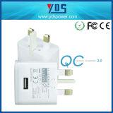 chargeur micro de course du chargeur USB de mur de 5V 1A USB avec le port simple, chargeur BRITANNIQUE de fiche pour le smartphone