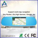 Allwinner A33 Quad-Core 5 pulgadas Espejo posterior del coche del registrador de Android con navegación GPS