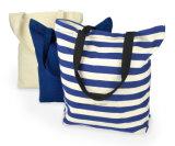 I prodotti dell'OEM hanno personalizzato il sacchetto di acquisto stampato marchio della spiaggia del Tote del mestiere della tela di canapa del cotone