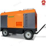 Compresor de aire diesel portable de 388 Cfm Cummins Engine para la explotación minera