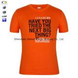 T-shirt fait sur commande d'impression de Mens avec le texte