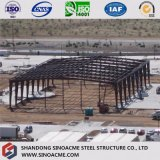 Gruppo di lavoro prefabbricato della struttura d'acciaio con la colonna del vento