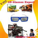Сгустите 2 Layers Material Color Plastic Circular Palarized 3D Glasses для Polarized 3D TV