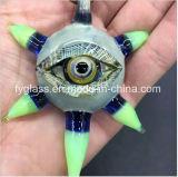 Pendente blu del tubo di vetro Pendant variopinto dell'occhio di vetro per il commercio all'ingrosso di colore degli Stati Uniti della ciotola di Glasspipe