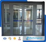 Modèle en verre de porte de tissu pour rideaux d'interruption de double thermique moderne d'alliage d'aluminium