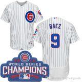 男性シカゴカブスジャージー17 Krisブライアント44アンソニーRizzo 9ハビエルBaezは12のKyle Schwarberのワールドシリーズ金の野球のジャージに挑む