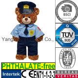 Police molle de policier d'ours de nounours de jouet de peluche de peluche de gosses