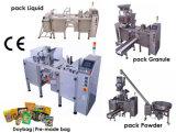 Automático de llenado de bolsas prefabricadas y sellado de la máquina