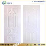 piel moldeada piel primera de la puerta de la puerta de HDF del blanco de 2.7m m 3m m