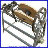 Corda manual da palha que faz/máquina de confeção de malhas