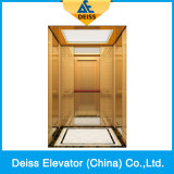 Лифт Dkw1000 пассажира виллы дома передачи с желобчатым ведущим шкивом Roomless Vvvf машины