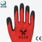 13G Poliéster Shell Latex Palm Coated Safety Luva