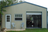 圧延のドアが付いている鉄骨構造の倉庫