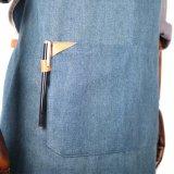 Рука произвела рисберму кельнера джинсовой ткани задней части креста высокого качества с карманн
