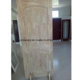 Porte intérieure personnalisée en bois solide de chêne blanc