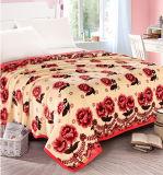 Cobertor coral impresso Sr-B170219-53 impresso macio super do velo do cobertor da flanela