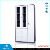 Classeur en verre en métal de porte de bord étroit de Henan Mingxiu/classeur en acier