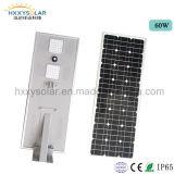 Солнечный напольный свет интегрировал все в одном уличном свете СИД солнечном с датчиком PIR и регулятором MPPT
