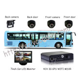 Autobús escolar DVR móvil -- mini SD tarjeta de 4channels D1 3G + WiFi+GPS+G-Force