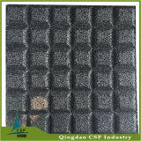 リサイクルされたゴム製床のマットの緑のゴムタイル