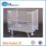 Laminazione Folding Stackable Wire Mesh Container con Caster