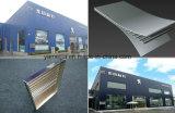 Fachada exterior em alumínio ondulado de parede