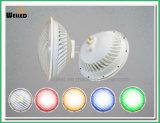 УДАРА подводный СИД света бассеина 54W 5000lm шарик PAR56 цветастого СИД PAR56 с Gx16D G53