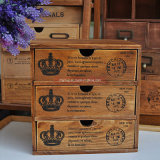 Gabinete de madera del estilo de la vendimia europea antigua antigua para el empaquetado
