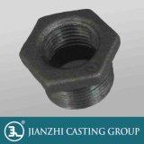 Jianzhi Marke galvanisierte &Black formbares Eisen-Rohrfittings 241 Hexagon-Buchsen