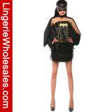 Corsetto di Batgirl delle donne sexy del vestito da partito di Halloween e costume del tutu
