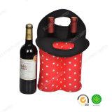 suporte do refrigerador do frasco de vinho do neopreno 2-Pack com o GV para o piquenique