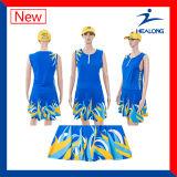 O Sublimation original de Healong inteiramente importou o Netball da tinta Sportwear-Contorna