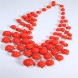 تصميم جديدة ينظم أكريليك أحمر عقد نمو مجوهرات