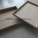 Casella di legno personalizzata di memoria di legno di Paulownia con il coperchio di incavo