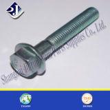 Alliage Steel Zinc Plated Flange Bolt pour Automobile (DIN6921)