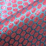 Cuoio sintetico del merletto della sirena della scintilla di scintillio per l'imballaggio decorativo della borsa