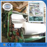 Máquina de revestimento de papel frente e verso branca e cinzenta